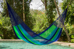 outdoor hammock australia in blue and green