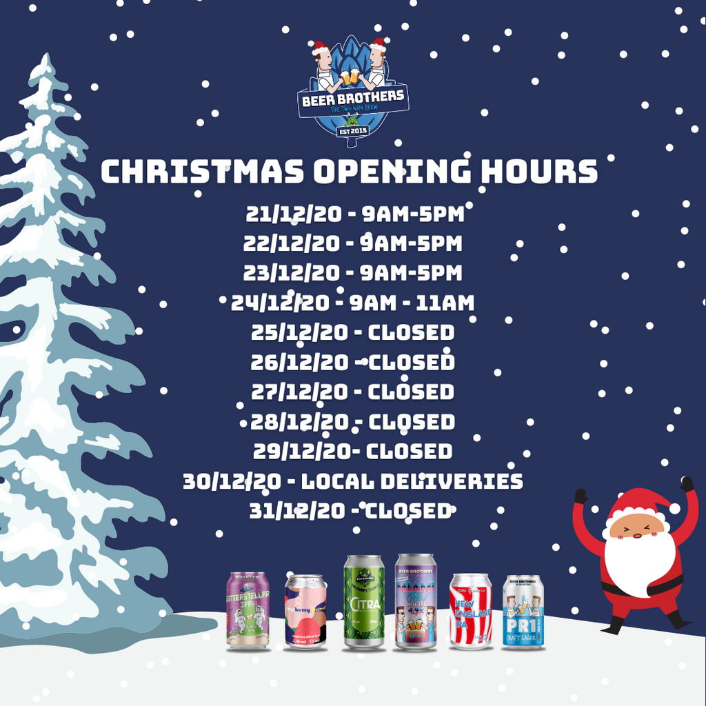 Brewery Shop Christmas Opening Hours