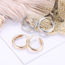 Load image into Gallery viewer, Bold Brush Finish Hoop Earrings 2mm