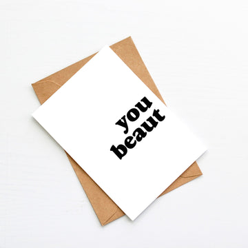 You Beaut Blank Card-Stationary-Little Fish Co.