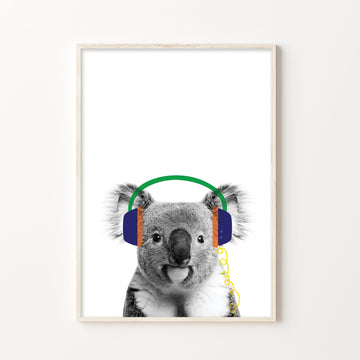 Koala Beats Print-Art-Little Fish Co.