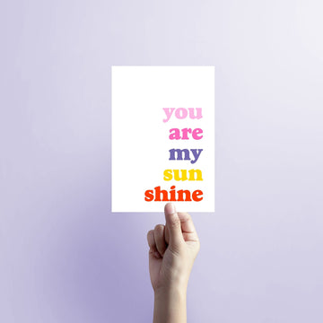 You are my sunshine Blank Card-Stationary-Little Fish Co.