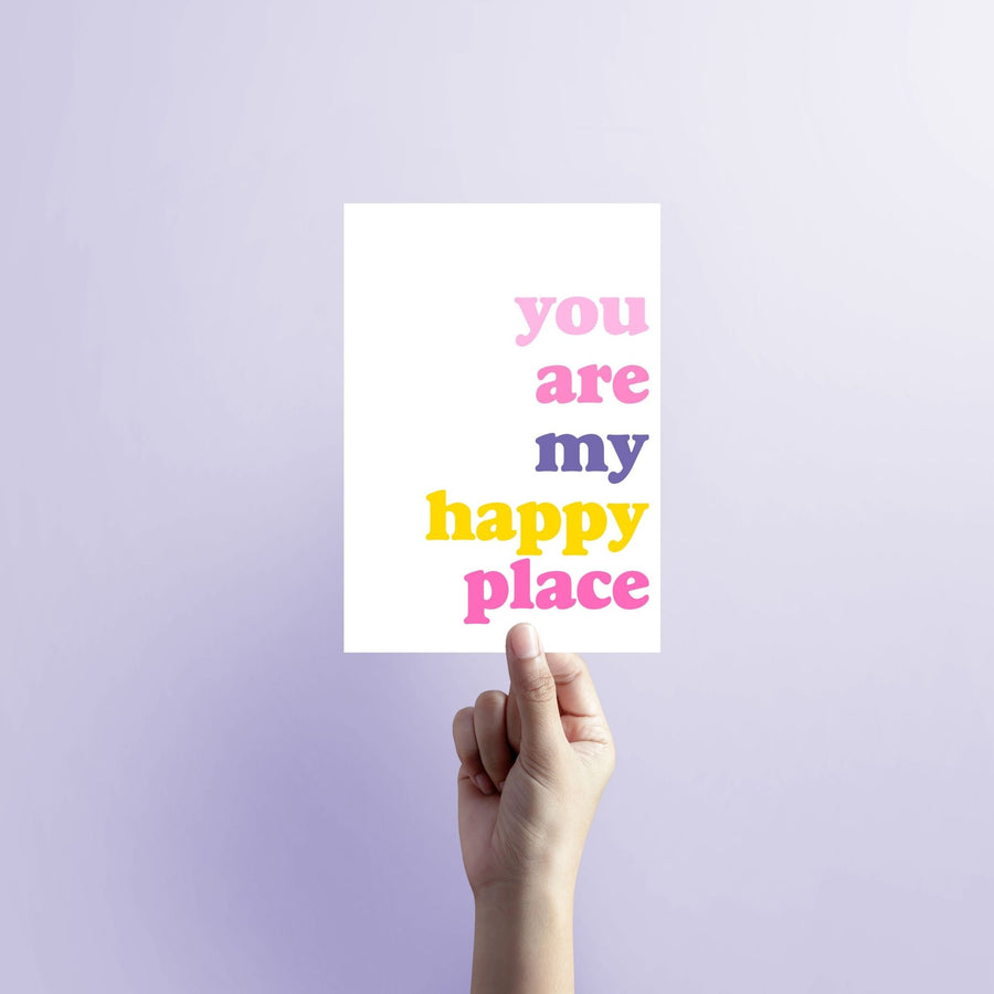 You are my Happy Place Blank Card-Stationary-Little Fish Co.