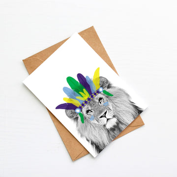 Lion Generic Plain Card-Stationary-Little Fish Co.