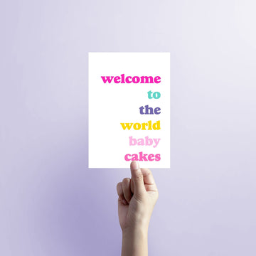 Welcome to world baby cakes Blank Card-Stationary-Little Fish Co.