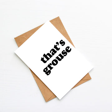 That's Grouse Blank Card-Stationary-Little Fish Co.