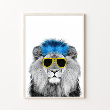 Lion Punk Print-Art-Little Fish Co.