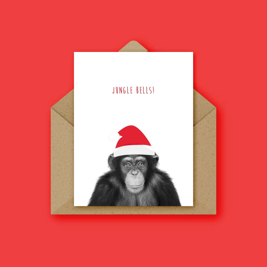 Set of 6 Animals in Santa Hat Christmas Card-Stationary-Little Fish Co.