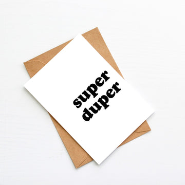 Super Duper Blank Card-Stationary-Little Fish Co.