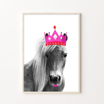 Horse Hot Lips Print-Art-Little Fish Co.
