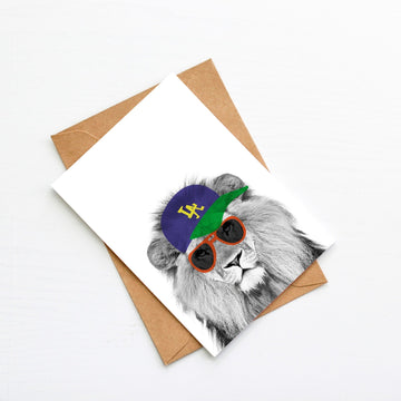 Lion LA Generic Plain Card-Stationary-Little Fish Co.