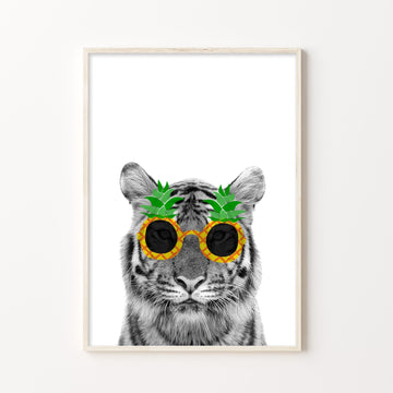 Pina Colada Tiger-Art-Little Fish Co.