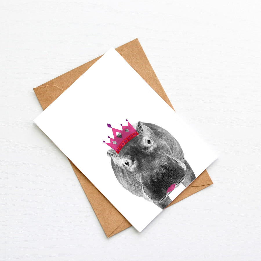 Hippo Generic Plain Card-Stationary-Little Fish Co.