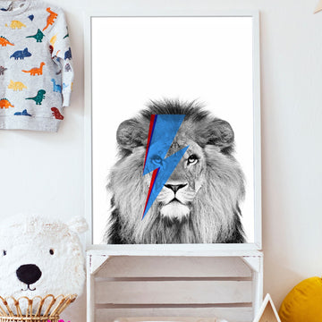 Lion Bowie Print-Art-Little Fish Co.