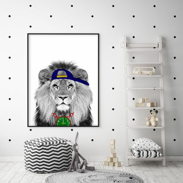 Lion Flava Flav Print-Art-Little Fish Co.