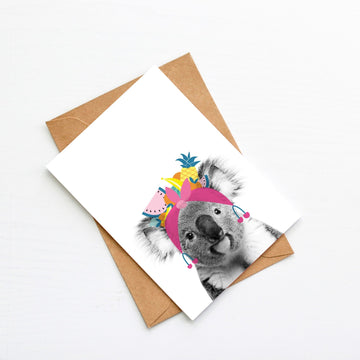 Koala Tutti Fruity Generic Plain Card-Stationary-Little Fish Co.
