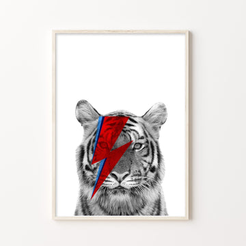 Tiger Bowie Print-Art-Little Fish Co.