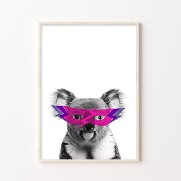 Koala Super Hero Print-Art-Little Fish Co.