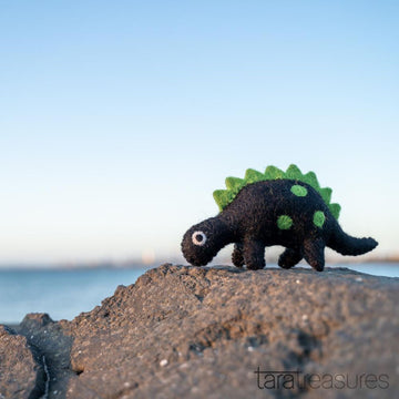 Green Felt Dinosaur Toy-Fun-Little Fish Co.