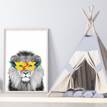 Lion Super Hero Print-Art-Little Fish Co.