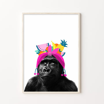 Gorilla Tutti Fruity-Art-Little Fish Co.