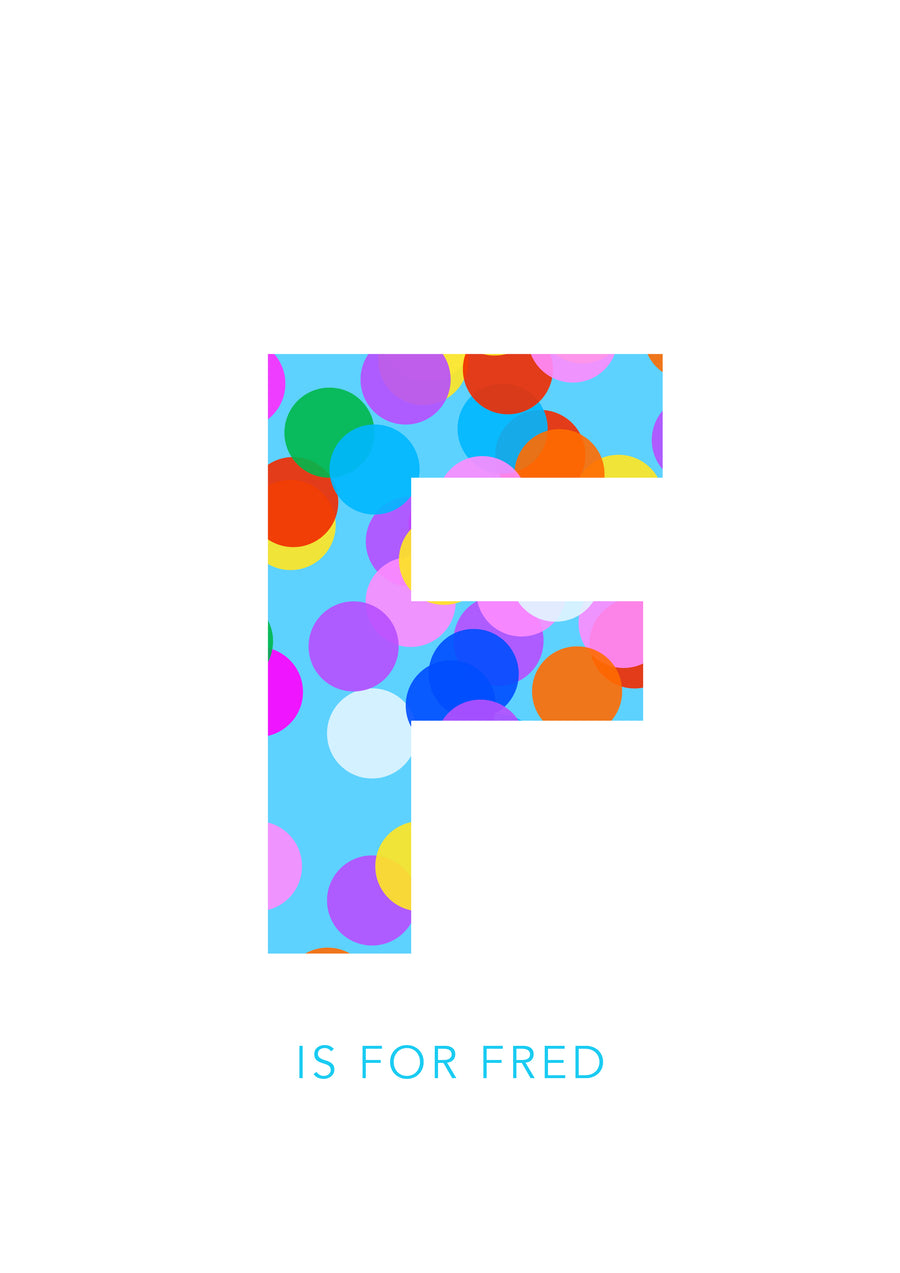 F Confetti Letter-Art-Little Fish Co.