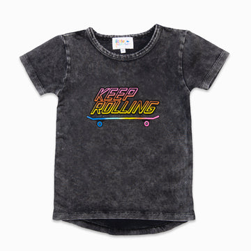 Keep Rolling Stone Wash Tee-Fashion-Little Fish Co.