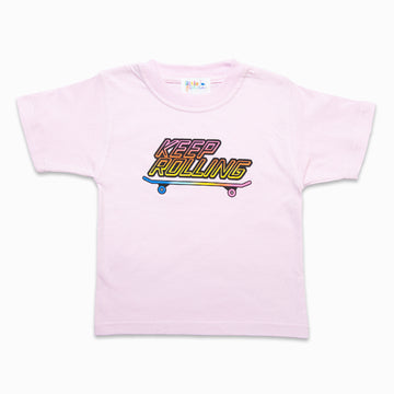 Keep Rolling Pink Tee-Fashion-Little Fish Co.
