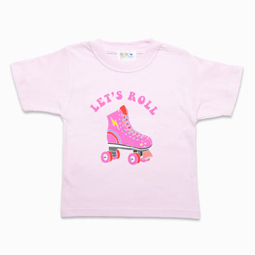 Let's Roll Pink Tee-Fashion-Little Fish Co.