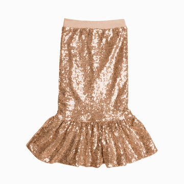 Rose Gold Mermaid Sequin Skirt-Fashion-Little Fish Co.
