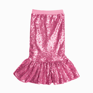 Pink Mermaid Sequin Skirt-Fashion-Little Fish Co.