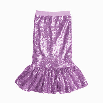 Lilac Mermaid Sequin Skirt-Fashion-Little Fish Co.