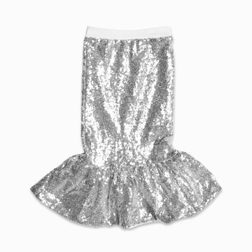 Silver Mermaid Sequin Skirt-Fashion-Little Fish Co.
