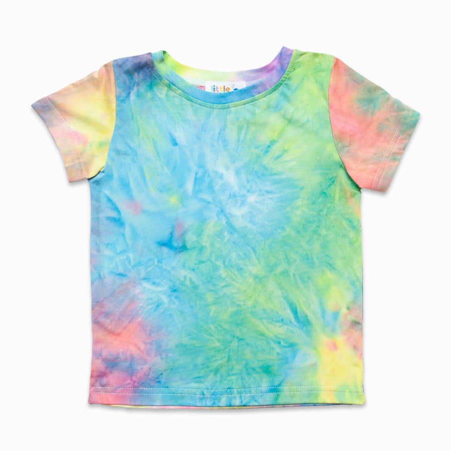 Rainbow Tie Dye Tee-Fashion-Little Fish Co.