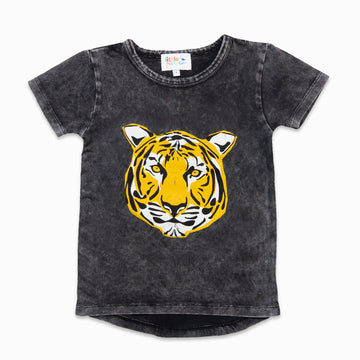 Stone Wash Tee with Tiger Graphic-Fashion-Little Fish Co.