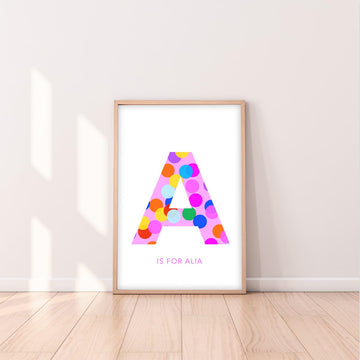 A Confetti Letter-Art-Little Fish Co.