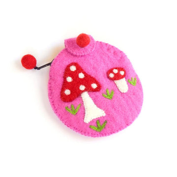 Pink Mushroom Purse-Fun-Little Fish Co.