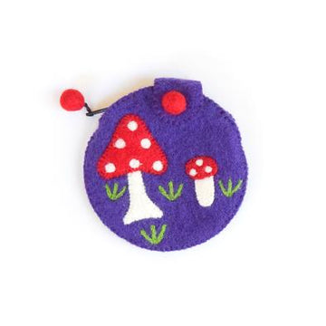 Purple Mushroom Purse-Fun-Little Fish Co.