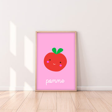 French Apple Art Print-Art-Little Fish Co.