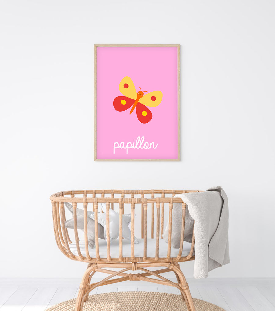 French Butterfly Art Print-Art-Little Fish Co.