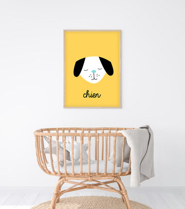 French Dog Art Print-Art-Little Fish Co.