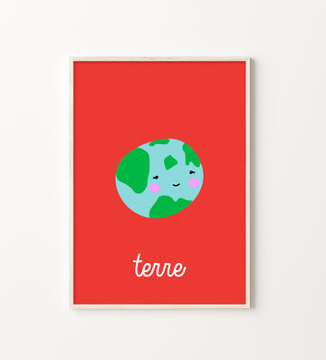 French Earth Art Print-Art-Little Fish Co.