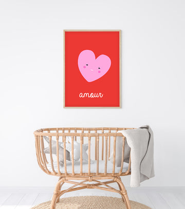 French Love Art Print-Art-Little Fish Co.