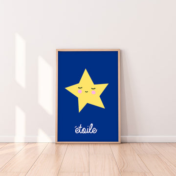 French Star Art Print-Art-Little Fish Co.