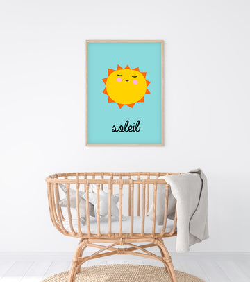 French Sun Art Print-Art-Little Fish Co.