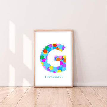 G Confetti Letter-Art-Little Fish Co.