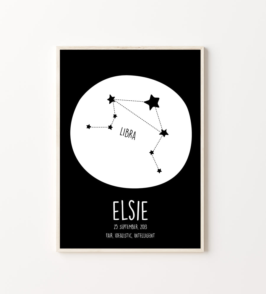 Libra Constellation Print-Art-Little Fish Co.