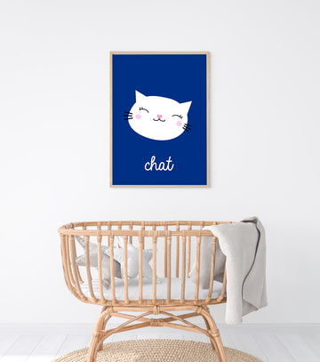 French Cat Art Print-Art-Little Fish Co.