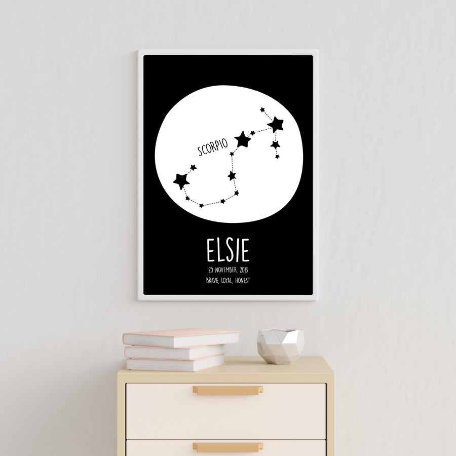 Scorpio Constellation Print-Art-Little Fish Co.