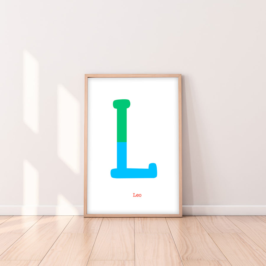 Two Tone Letter L Print-Art-Little Fish Co.